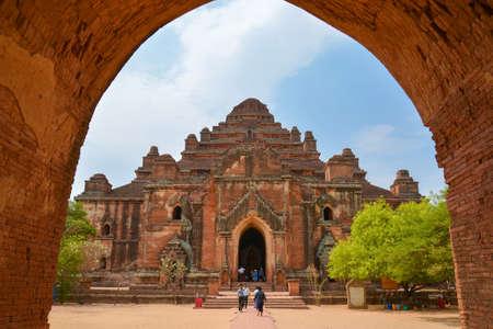 tabernacle: Bagan, Myanmar - April 22, 2016 : Dahmmayan Gyi Phaya in Bagan, Myanmar Editorial