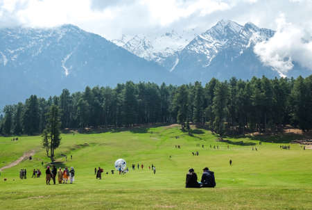 Pahalgam Valley in Kashmi, India