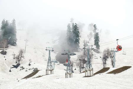 Pahalgam, India - April 24, 2017 : Tourist visiting Ski resort in Gulmarg, Jammu And Kashmir, India