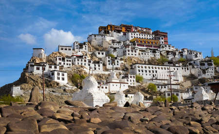Thiksey Monastery or Thiksey Gompa  in  Leh, Jammu and Kashmir, India Editorial