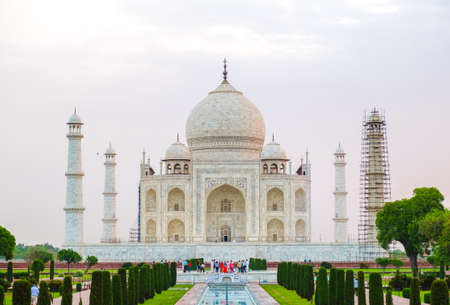 View of Taj Mahal in Agra India sunrise