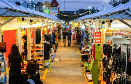 Khonkean, Thailand - April 2, 2017 :Night market  at Ton tan market, Khonkean,  Thailand