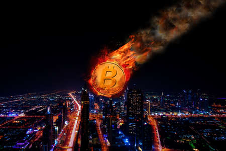 Concept of  Bitcoin Price falling