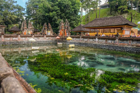 Holy water spring in the Pura Tirta Empul, Bali, Indonesia