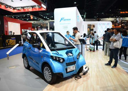 Bangkok Thailand April FOMM Electric Car Exhibition - Car show booth