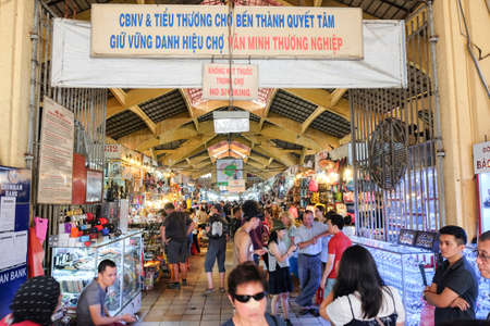 Ho Chi Minh City, Vietnam - April 29, 2018 :  People are shopping at Ben Thanh Market 報道画像