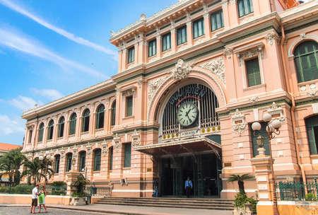 Ho Chi Minh City, Vietnam - March 7, 2013 : Saigon Central Post Office