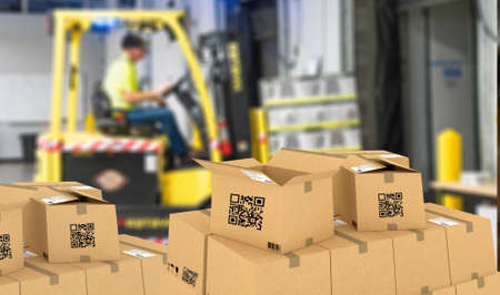 Smart logistic, Industry 4.0, Smart warehouse using QR Codes to manage packages and inventory, Supply chain