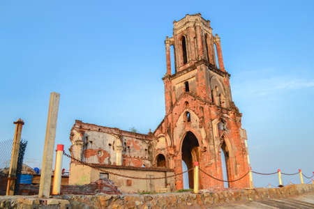 Hai Hau Church, Ruin Church by the Bleach in Hai Hau city, Nam Dinh, Vietnam Stock fotó