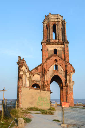 Hai Hau Church, Ruin Church by the Bleach in Hai Hau , Nam Dinh, Vietnam