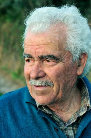 Portrait of a senior male farmer from southern Greece
