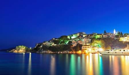 Night picture taken on the Greek island of Skiathos Stock Photo