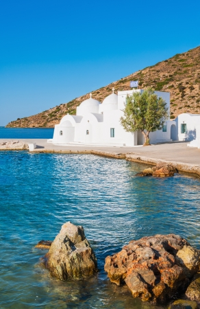 Chapel on Sifnos island, Greece, by the sea Stock Photo - 15124797