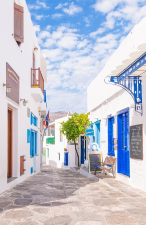 An alleyway from the town of Apollonia, Sifnos, Greece Editorial