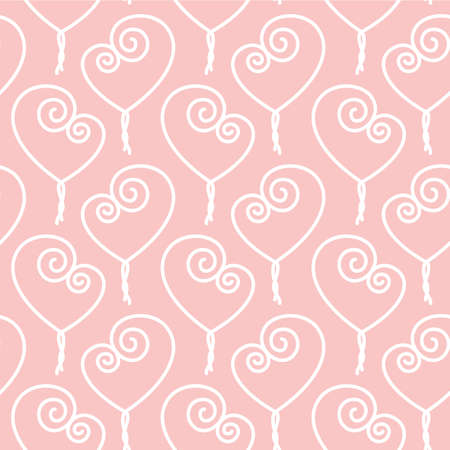 easiness: Twisted heart for Valentine Day seamless pattern Illustration