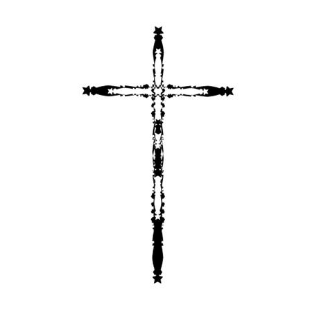 christian crosses: Cross icons set. Decorated crosses signs or symbols. Illustration Illustration
