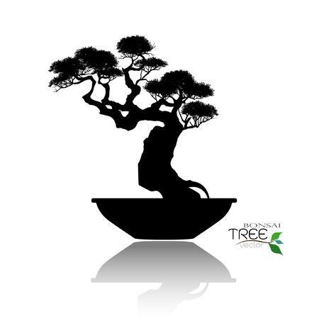 Bonsai silhouette image illustration