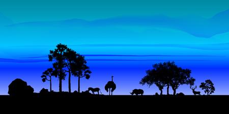 Sky Nature Landscape Background, vector of realistic sky for web. Seasonal background illustration.