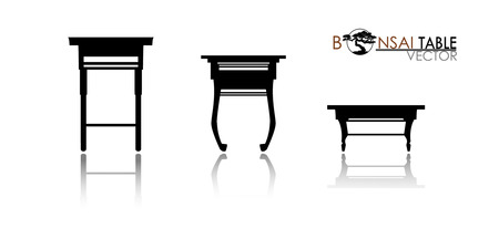 Furniture table isolated on white background. Modern and retro tables, retro and office desk icons vector illustration. Set of table for interior