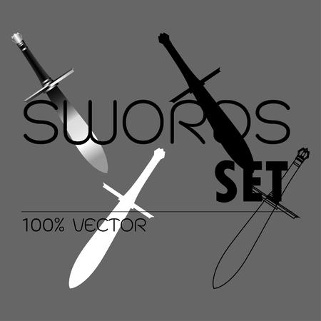 vector of sword , realistic stlye.
