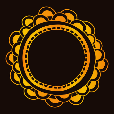 vector logo/icon illustration, Round gradient mandala isolated on background. Mandalas with floral patterns. Yoga template. Ilustrace