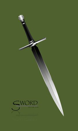 3d swords. sword isolated on background , Military sword  ancient weapon design, European straight swords,vector illustration, Daggers and Knifes Hand Drawn