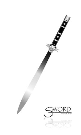 Sword Designs, Metal Sword, European straight swords, Asia sword, vector realistic sword isolated.European straight swords, vector illustration, Daggers and Knife.