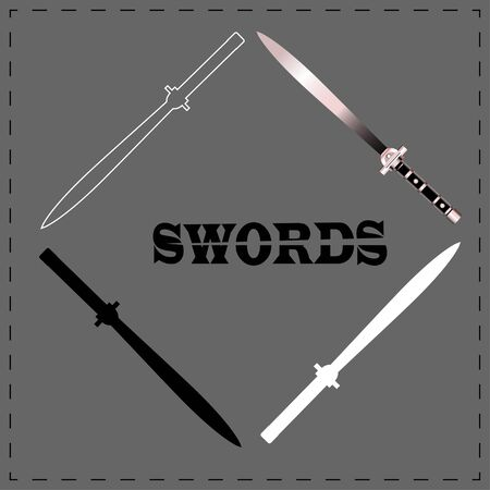 vector of swords . illustration. sword set.