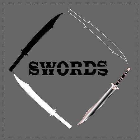 vector of swords . illustration. sword set.
