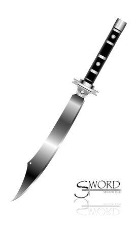 Sword Designs, Metal Sword, European straight swords, Asia sword, vector realistic sword isolated.European straight swords, vector illustration, Daggers and Knife.