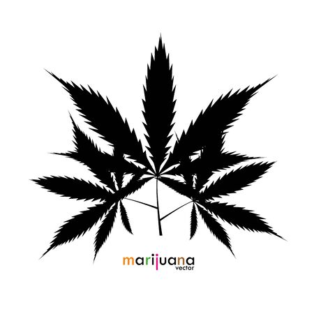 Solid black cannabis marijuana leaf vector image. Medicine Cannabis Weed, Smoking, Smoker Weed ,Leaf Hemp Bong, Clipart Vector Cricut Cut Cutting File