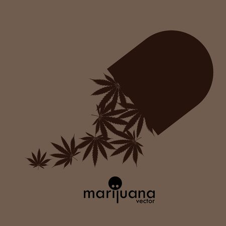 Cannabis or Marijuana logo, marijuana leaf vector image. Medicine Cannabis Weed, Smoking, Smoker Weed , Clipart Vector Cricut Cut Cutting File Illustration