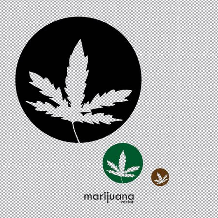 Cannabis or Marijuana logo, marijuana leaf vector image. Medicine Cannabis Weed, Smoking, Smoker Weed , Clipart Vector Cricut Cut Cutting File  イラスト・ベクター素材