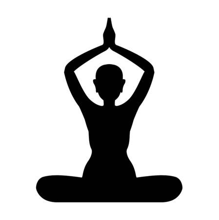 Yoga symbol vector sign isolated