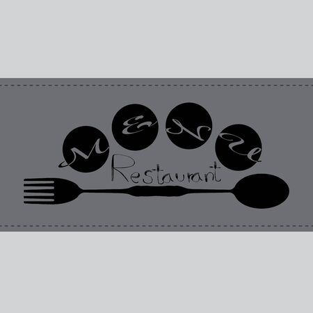 Cutlery Design   Food  like icon. Fork and Spoon. Catering concept. Flat line vector illustration. Food word sign  icon design template elements with spoon, knife and fork. Vector  .