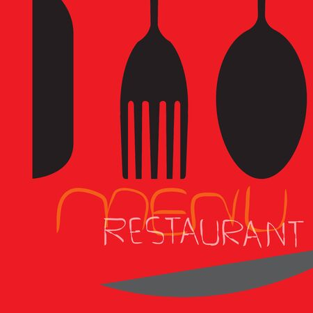Cutlery Design  , Food  like icon. Fork and Spoon. Catering concept. Flat line vector illustration. Food word sign  icon design template elements with spoon, knife and fork.