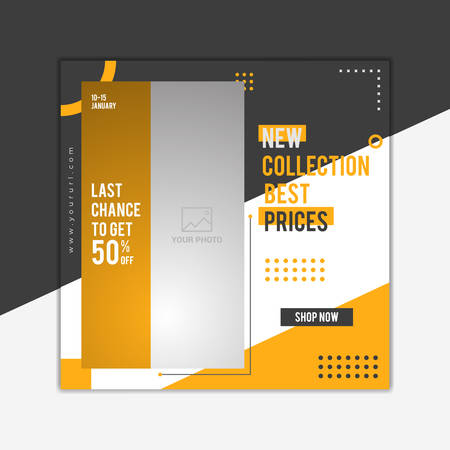 Fashion sale social media post design.Social media post design.Vector Illustration