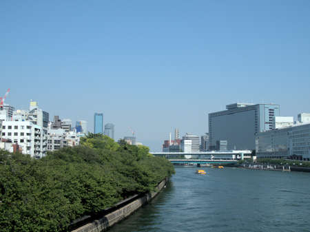 Scenery of the river in the city