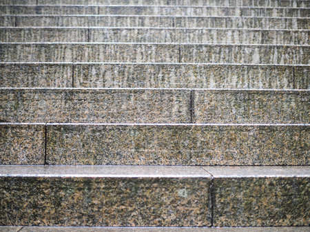 The stairs of wet stone in the rain