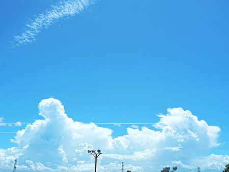 Beautiful blue sky and big clouds background