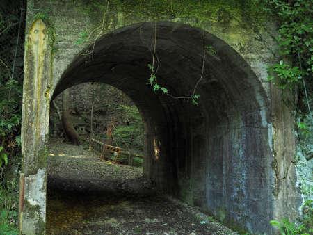 Scenery of the tunnel feeling terror