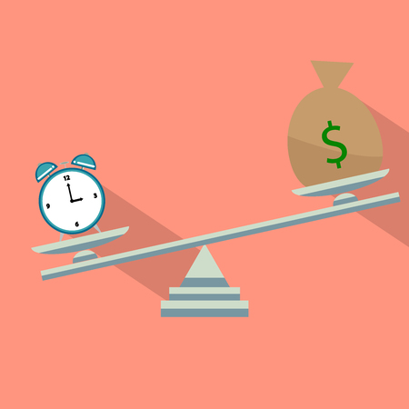 time is money flat design