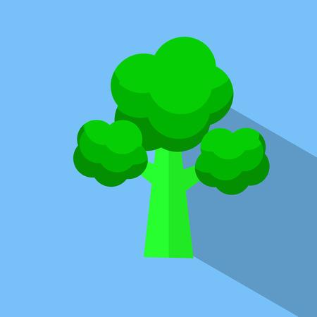 broccoli character flat design vector icon illustration