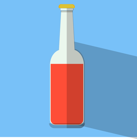 bottle flat design illustration vector