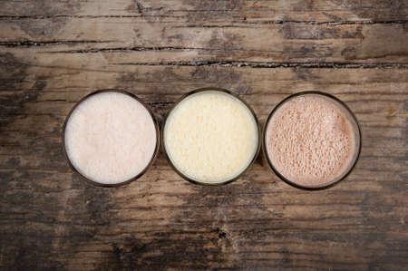 milkshake: Top view milkshakes
