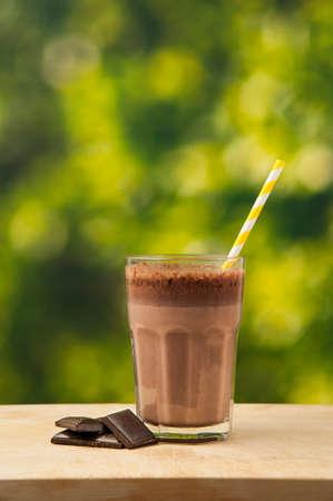 Chocolade milkshake Stockfoto