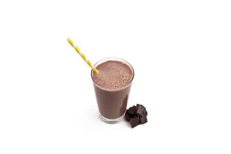 Isolated Chocolate Milkshake