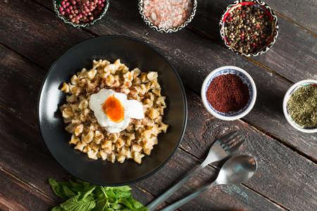 Tasty Turkish Ravioli Ravioli Stock Photo
