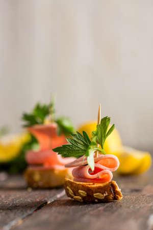 Delicious Snack Ham Tapas
