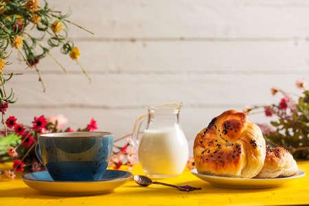 Tasty Pastry Borek and Milk